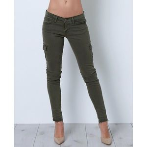Flying Monkey Platinum Cargo Skinny Jeans